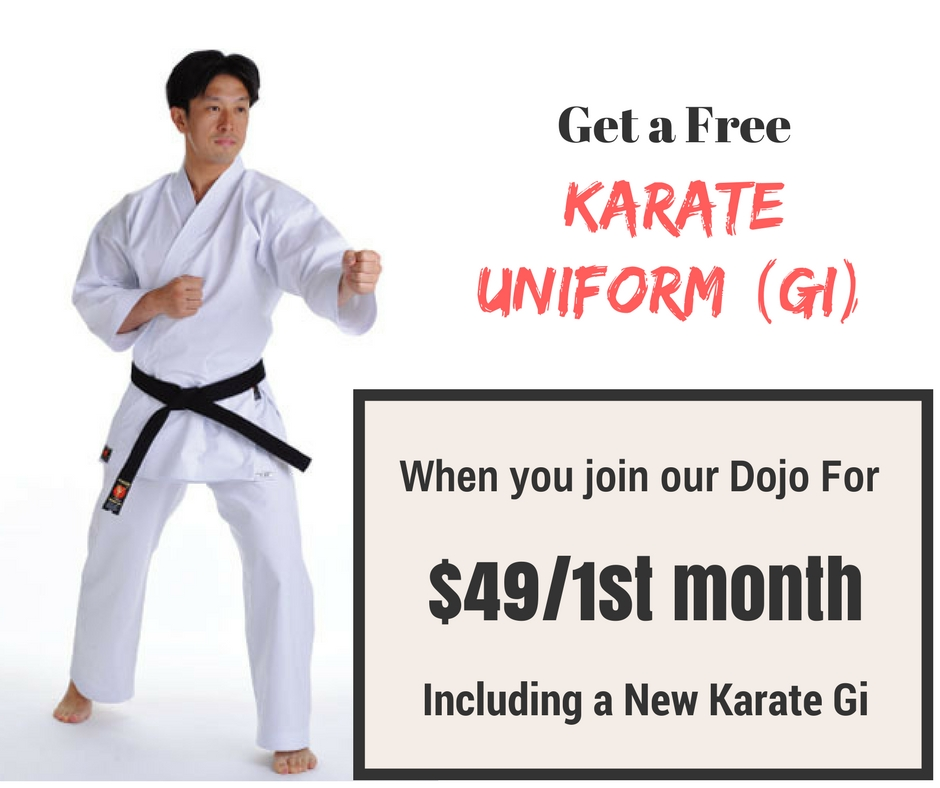 Free Karate Uniform (GI) Offer   OCJKA